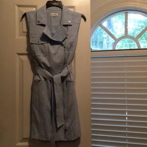 CalvinKlein light blue zipper Dress. Size 8
